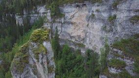 Красивая бдительность горы высокая на горах зажим Огромная долина с толстым взгляд сверху леса евкалипта большого Стоковые Изображения RF