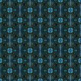 Красивая безшовная восточная картина украшения ковра, абстрактный орнамент кругом и квадрат или элементы косоугольника Backg текс Стоковые Изображения