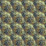 Красивая безшовная восточная картина украшения ковра, абстрактный орнамент кругом и квадрат или элементы косоугольника Backg текс Стоковые Фотографии RF