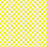 Красивая безшовная желтая точка польки с картиной границы Иллюстрация вектора