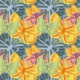 Красивая безшовная картина с бабочками иллюстрация вектора