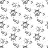 Красивая безшовная картина с кругом снежинки r Предпосылка зимы для дизайна рождества или Нового Года r иллюстрация вектора