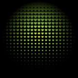 Красивая безшовная картина с сердцами выбитыми зеленым цветом Бесплатная Иллюстрация