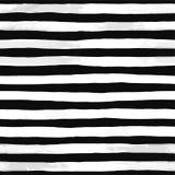 Красивая безшовная картина с черно-белыми нашивками акварели покрашенные рукой ходы щетки, striped предпосылка Illustr вектора иллюстрация штока