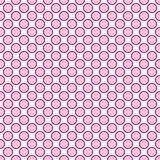 Красивая безшовная розовая картина точек польки с границей Иллюстрация вектора