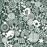Красивая безшовная текстура с цветками. иллюстрация штока