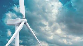 Красивая белая ветрянка на предпосылке голубого неба иллюстрация штока