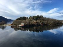 Красивая береговая линия в северной Норвегии Стоковое Изображение
