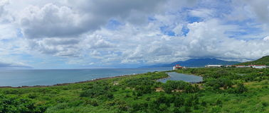 Красивая береговая линия южного Тайваня Стоковые Фото
