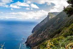 Красивая береговая линия Мадейры скалистая Стоковые Фото