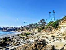 Красивая береговая линия пляжа Laguna стоковое изображение rf