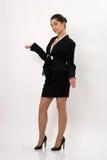 Красивая бизнес-леди на белой предпосылке Стоковые Фото
