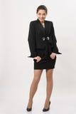 Красивая бизнес-леди на белой предпосылке Стоковая Фотография