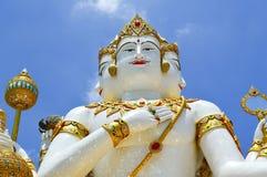 Красивая большая белая статуя brahma стоковая фотография
