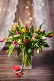 Красивая валентинка тюльпанов весны Стоковая Фотография RF