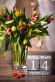 Красивая валентинка тюльпанов весны Стоковое фото RF