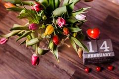 Красивая валентинка тюльпанов весны Стоковые Фотографии RF