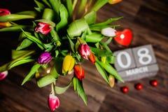 Красивая валентинка тюльпанов весны Стоковые Фото
