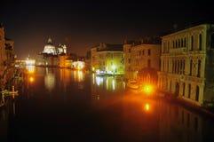 Красивая Венеция на ноче Стоковые Фото
