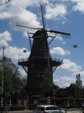 Красивая ветрянка в Амстердаме стоковые изображения rf