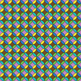 Красивая винтажная безшовная предпосылка круга Стоковые Фото