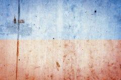 Красивая винтажная бетонная стена красной сини backhander текстуры стоковое изображение rf