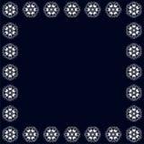Красивая винтажная круговая картина индейца, флористического круга иллюстрация вектора