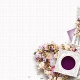 Красивая винтажная рамка для одного фото в дне стиля scrapbook, ` s валентинки или теме свадьбы Стоковая Фотография