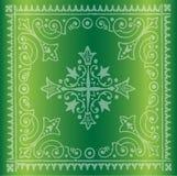 Красивая винтажная флористическая зеленая предпосылка Стоковое Фото
