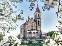 красивая восточная церковь в падении - листья осени стоковые изображения rf