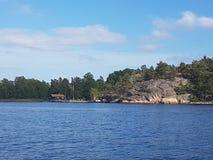Красивая вода в Швеции Стоковые Фото