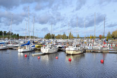Красивая гавань Lappeenranta Стоковые Фотографии RF