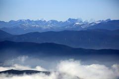 Красивая гималайская горная цепь в Шангри-Ла, Китай Стоковая Фотография RF
