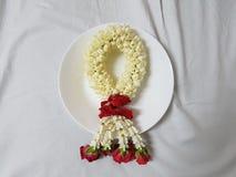 Красивая гирлянда жасмина стоковые изображения