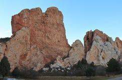 Красивая горная порода в Колорадо-Спрингс, Колорадо стоковая фотография