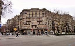 Красивая городская архитектура, Барселона Стоковая Фотография
