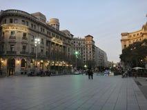Красивая городская архитектура, Барселона Стоковое Изображение RF