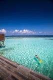 красивая гостиница на воде Стоковая Фотография