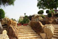 Красивая гостиница на пляже Иордан стоковое фото rf