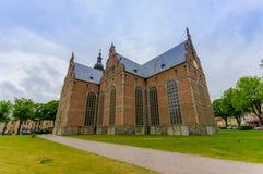 Красивая готическая церковь в Kristianstad, Швеции стоковые изображения rf