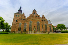 Красивая готическая церковь в Kristianstad, Швеции Стоковые Фото