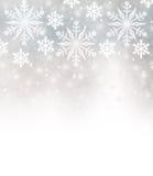 Красивая граница снежинок стоковая фотография rf
