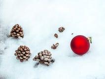 Красивая граница украшений рождества с экземпляр-космосом Стоковое Фото