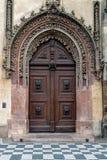 Красивая дверь в Праге стоковая фотография
