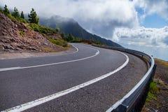 Красивая дорога горы в Тенерифе Концепция перемещения дороги Приключение автомобильного путешествия Стоковые Фото
