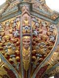 Красивая древесина высекая сделанные столетия тому назад Стоковое Фото