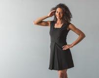Красивая девушка американца Афро Стоковая Фотография