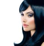 Красивая девушка брюнет стоковая фотография rf