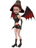 Красивая девушка ведьмы Мультяшки Стоковое Изображение