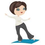 Красивая девушка выполняет тренировку йоги иллюстрация вектора